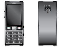 Mobile Phone with Keypad. Old style cell phone with keypad in black color Royalty Free Stock Photo