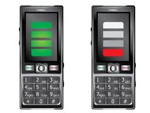 Mobile Phone with Keypad. Old style cell phone with keypad in black color Stock Image