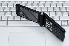 Mobile phone and laptop Royalty Free Stock Photo