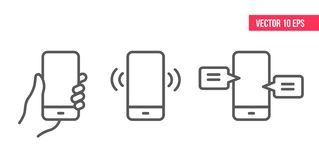 Mobile Phone Line IconSmartphone with white screen vector eps10 stock illustration