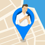 Mobile phone location vector illustration Royalty Free Stock Images
