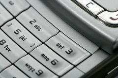 Mobile phone macro keyboard detail Royalty Free Stock Image