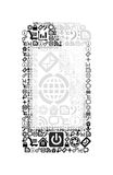 Mobile phone made of application icons Royalty Free Stock Images
