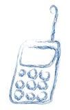 Mobile phone made from splash water stock illustration
