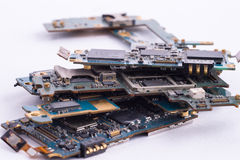 Mobile phone mainboard isolated Stock Images