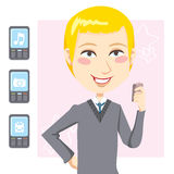 Mobile Phone Man Stock Images