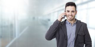 Mobile phone man Royalty Free Stock Photos