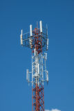 Mobile phone mast. On blue sky background Stock Photography