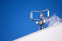 Mobile phone mast. Detail of a mobile phone mast royalty free stock images