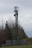 Mobile Phone Mast. On Green Belt Taken in Scotland royalty free stock photo