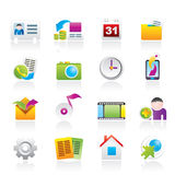 Mobile phone menu icons Stock Photography