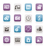 Mobile phone menu icons royalty free illustration