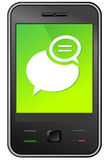 Mobile phone message Stock Photos