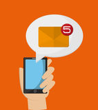 Mobile phone messaging image Royalty Free Stock Image