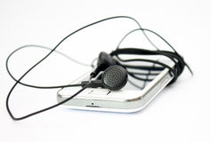 Mobile phone or mp3 player and headset 3. Stock Images