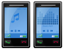Mobile phone mp3 player Stock Image