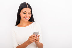 Mobile phone is my best friend. Royalty Free Stock Images