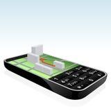 Mobile phone navigator icon Stock Image