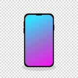 mobile phone new touch screen empty background stock illustration