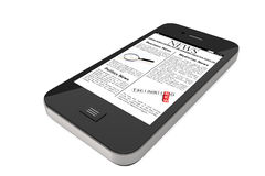 Mobile phone with News Royalty Free Stock Images