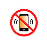 Mobile phone not allowed icon Royalty Free Stock Image