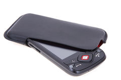 Mobile Phone On Packet Royalty Free Stock Photos