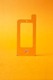 Mobile phone paper symbol Royalty Free Stock Image