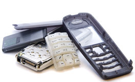Mobile phone in parts Stock Photo