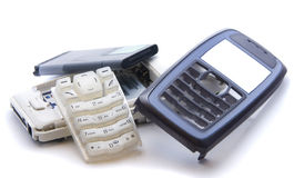Mobile phone in parts Royalty Free Stock Photography