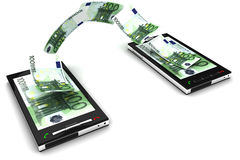 Mobile phone payment royalty free illustration