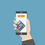 Mobile phone payment Royalty Free Stock Image