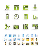 Mobile phone performance icons Stock Image