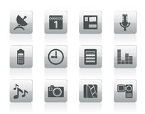 Mobile phone performance icons Royalty Free Stock Photos