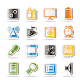 Mobile phone  performance, internet icons Stock Image