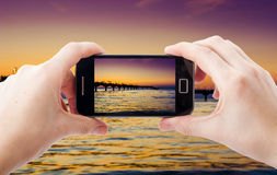 Mobile phone photography Stock Photos