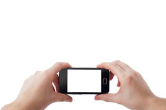 Mobile phone photography Royalty Free Stock Photography