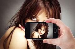 Mobile phone photography Royalty Free Stock Images