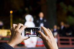 Mobile phone photography Royalty Free Stock Image