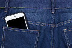Mobile phone in pocket Stock Photos