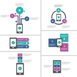 Mobile phone presentation templates Abstract Infographic elementsflat design set for brochure flyer leaflet marketing Stock Photography