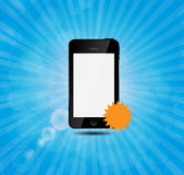 Mobile phone with price label vector illustration Stock Photo