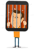 Mobile Phone Prisoner Royalty Free Stock Photography