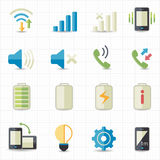 Mobile phone profile icons Stock Photography
