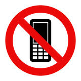 Mobile Phone prohibited Royalty Free Stock Images