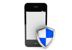 Mobile Phone with Protective shield Royalty Free Stock Photos