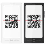 Mobile phone and QR barcode Royalty Free Stock Photo