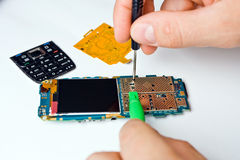 Mobile phone repair Royalty Free Stock Photo