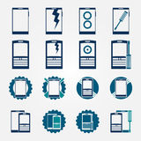 Mobile phone repair icons set Royalty Free Stock Images