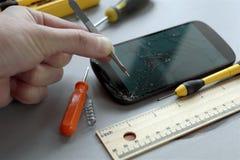 Mobile Phone Repair Stock Image