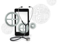 Mobile phone repair service illustration. Royalty Free Stock Images